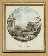 vue d'un jardin anglais dans les environs de paris by antoine louis françois sergent-marceau