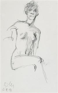 figure study by georg eisler