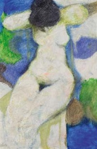 seated nude by douglas portway