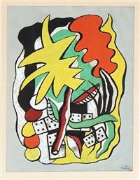 composition aux dominos by fernand léger