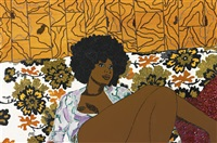 can't we just sit down (and talk it over) (from she works hard for the money pin-up series) by mickalene thomas
