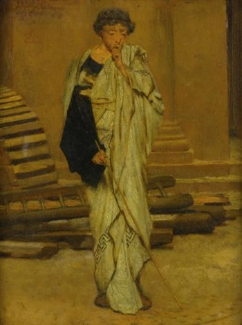 the roman architect by sir lawrence alma-tadema