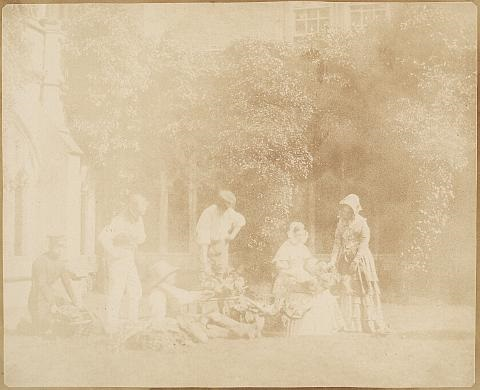 the fruit sellers lacock abbey england by william henry fox talbot