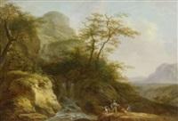 angler am wildbach by friedrich rauscher