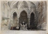 interior de capilla by genaro perez villaamil