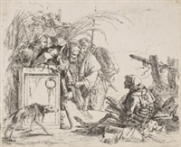 la morte dà udienza, pl. 8 (from capricci) by giovanni battista tiepolo