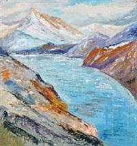 nordic fjord landscape by albin amelin