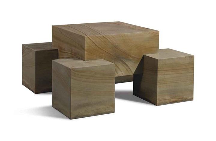seat leg table in 5 parts by scott burton