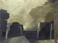 paesaggio con architetture by tomaso tommasi