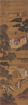 父子同朝 (father and son in service of the dynasty) by xu yuan