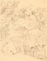 garden, arcueil by ellen fischer