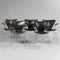 seven (model 3207) (set of 5) by arne jacobsen