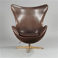 the golden egg (model 3316) easy chair (pair) by arne jacobsen