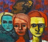 porträttgrupp (självporträtt) by gunnar loberg