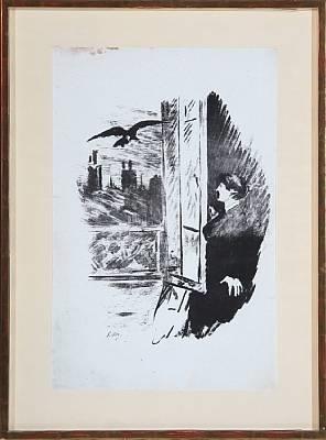 le corbeau (a la fenêtre) by édouard manet