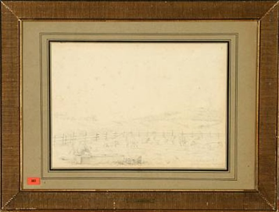 veirhøi seet fra den udlagte lammefjord by johan thomas lundbye