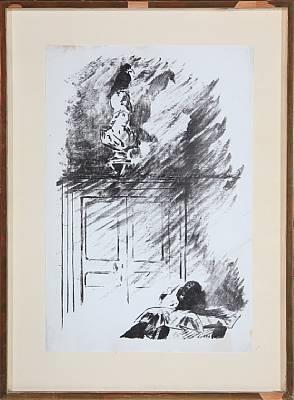 le corbeau (sur la buste de pallas) by édouard manet