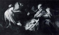 the nativity by jean valentin (de boulogne)