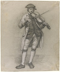 violinist with a hat by jordanus hoorn