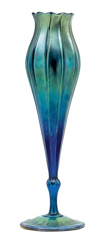 fußvase by louis comfort tiffany