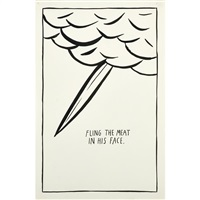 untitled (fling the meat in his face) by raymond pettibon
