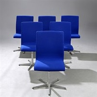oxford set of six chairs by arne jacobsen
