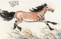 奔马图 镜心 纸本 by xu beihong