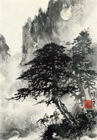 探幽图 镜心 水墨纸本 by li xiongcai