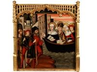 kleines altarretabelbild mit darstellung der legende der heiligen ursula by anonymous (15)