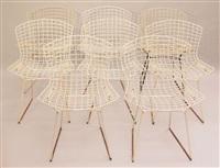 8 stühle modell 420 by harry bertoia