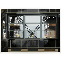eiffel tower restaurant from urban landscapes iii by richard estes