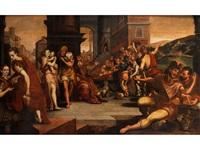 die parabel von den elf stunden der arbeiter im weinberg by frans floris the elder