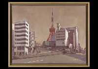 landscape with the tokyo tower by masayoshi aigasa