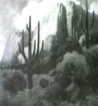 new mexico sunset by charles percy austin