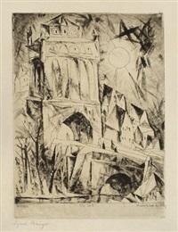 das tor (the gate) (from die schaffenden, 1st vol) by lyonel feininger