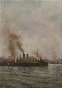 the r.m.s. medina in sydney harbour by dorothy bagge