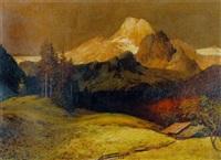 abendsonne über gebirgslandschaft by alfred deggendorfer