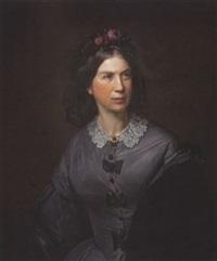 damenporträt by carl christian vogel von vogelstein