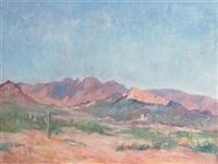 desert landscape by albert lorey groll