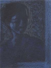 lady in blue by yusuf arakkal
