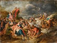 moses vernichtet die truppen des pharao im roten meer by hans jordaens iii