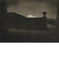 nocturne, orangerie staircase, versailles (from camera work 42/3) by edward steichen