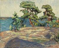 coastal scene by gregori aminoff