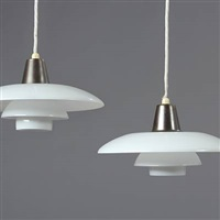 ph 3/2 pendants (pair) by poul henningsen