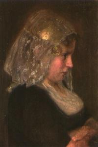 brustporträt eines holländischen mädchens by josef köpf