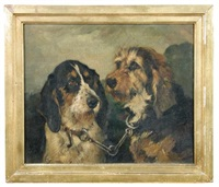study of two hounds by john emms