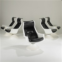 lounge chairs (set of 5) by alf svensson and yngvar sandstrom