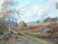autumnal landscapes (a pair) by rowland ward