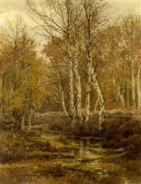 coin de mare - forêt de fountainebleau by joseph clément maxime jeannot