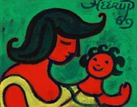 mother and child by henry heerup